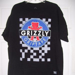 GRIZZLY Old School Check OG Bear T-Shirt in Black